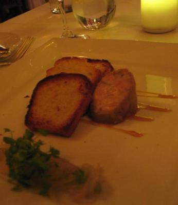 RESTAURANT L'EAU A LA BOUCHE, SAINTE-ADELE,QC - DUCK FOIE GRAS AU TORCHON, CELERY, HONEY CARAMEL